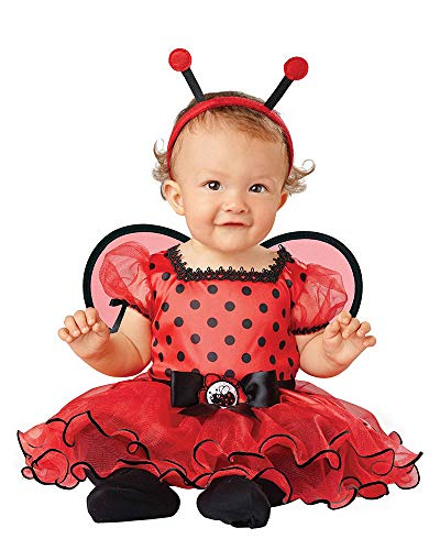 Seasons Infant Baby Girls Ladybug Dress with Tutu Skirt Halloween Costume (12-18 Months) -