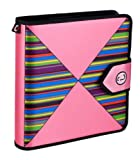 Case-It Velcro Closure 2-inch 3-Ring Binder with Tab File, Pink Print (S-815-PNK-P)