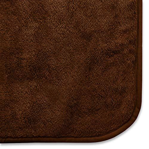 nbsp;couleurs 150x200 8 Couverture Marron Glory Douce Très nbsp;tailles Beige Disponible Et En Cm 2 Polyester Plaid Xxl Pura Casa w7IOqan