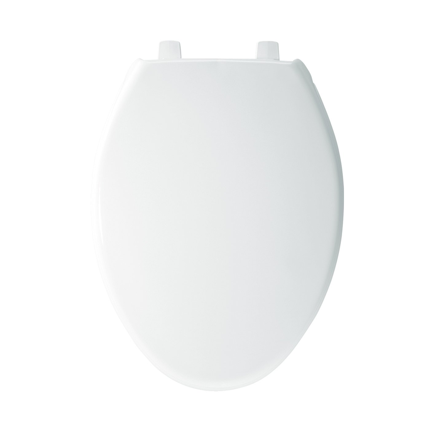 Bemis 1900SS000 Plastic Elongated Toilet Seat with Self Sustaining Hinge, White by Bemis