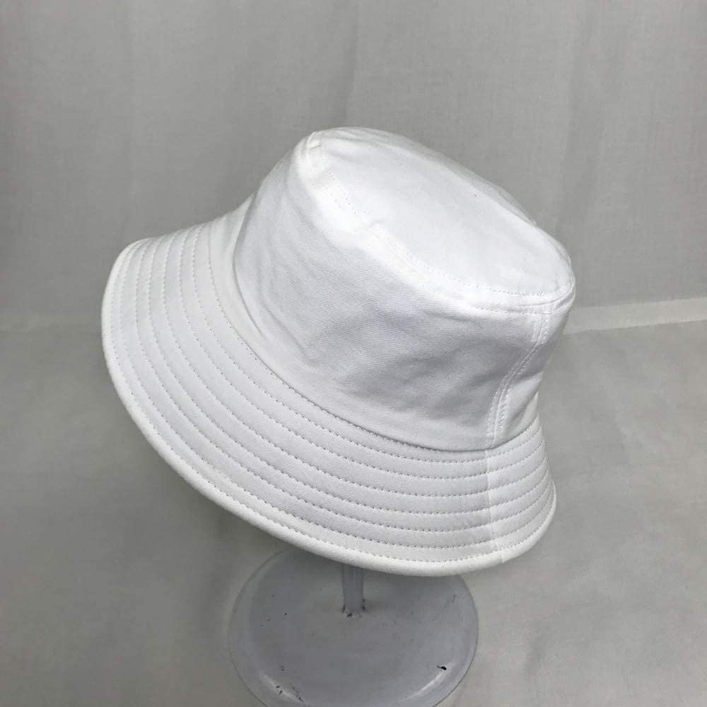 Sombrero de Pescador,Sombrero Pescador de Algod/ón Sombrero de Ala Ancha para Hombres Mujeres Libre Playa Acampar Viajar Blanco