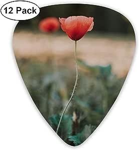 Cavdwa Red Poppy Flower - Púas de Guitarra Personalizadas (12 ...