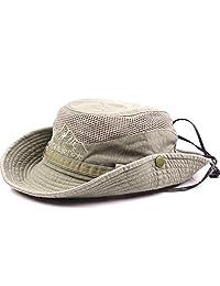 Obling Summer Uv Protection Sun Hat Unisex Wide Brim Outdoor Sun Cap Foldable Fishing Safari Hat