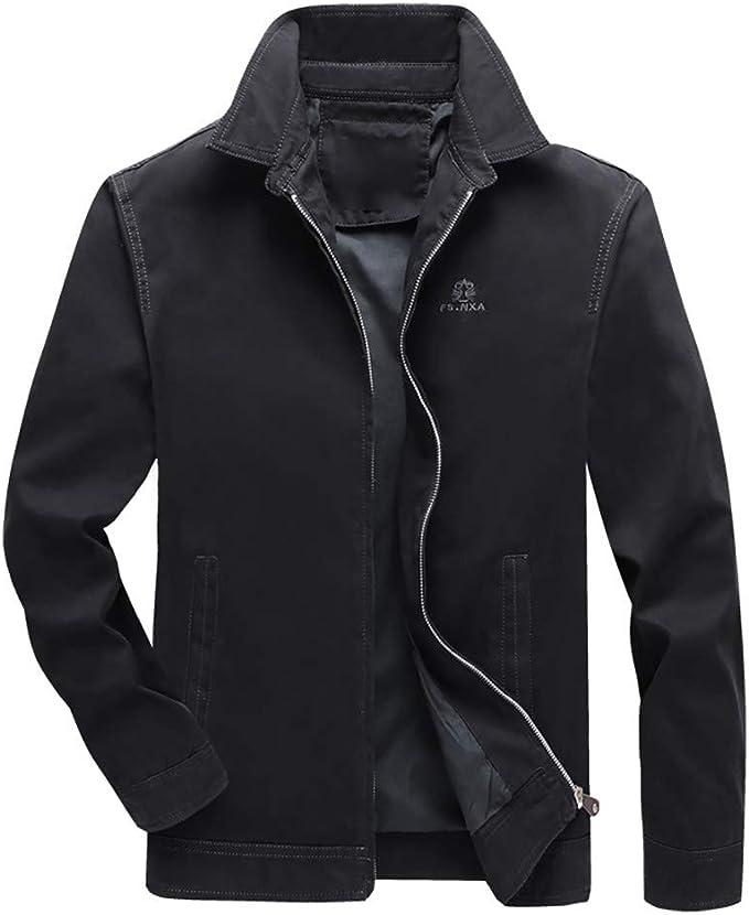 Da Uomo Bomber inverno caldo tessuto Manica Lunga Elegante Giacca Zip Top Sopra Cappotto