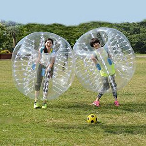 Pesters TPU Transparent Inflatable Bubble Ball,1.5M Diameter Bubble Soccer Ball For Adults and Kids,Inflatable Human Ball For Outdoor Play(US STOCK) by Pesters