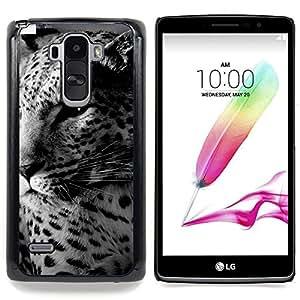 Qstar Arte & diseño plástico duro Fundas Cover Cubre Hard Case Cover para LG G4 Stylus H631 MS631 H635 H540 H630D H542 (Leopard Spots Carino Furry Animal Bestia)