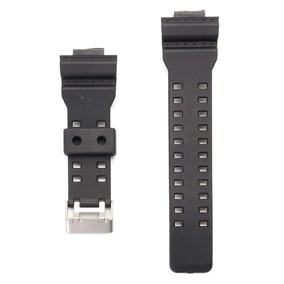 141af8df34e5 Reemplazo correa de reloj banda y pasadores para Casio G choque 16 mm GA-100  G-8900 GW-8900 con muchos más  Amazon.es  Relojes