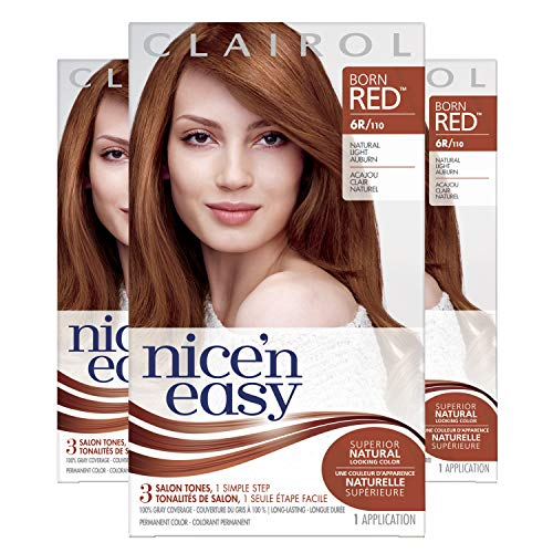 Clairol Nice'N Easy  Original  6R Natural Light Auburn (Pack of 3) (Best Highlights For Natural Red Hair)