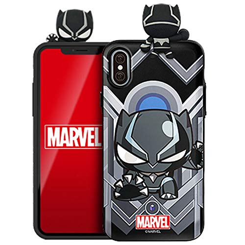 Marvel Avengers Figure Mirror Card Case for Apple iPhone 6 / iPhone 6s (Black -