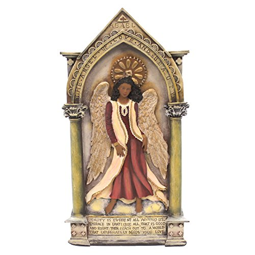 Beauty Angel Plaque (Black Art ANGEL OF LOVE AND BEAUTY African American Wall Plaque)