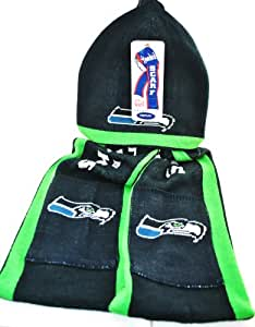 NFL Seattle Seahawks Knit NFL official Hoody Scarf NEW