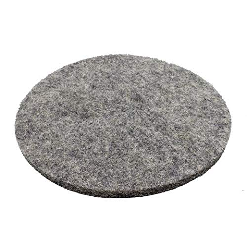 Extreme Hog Hair Pads, Black/Gray Blend, 3‑Inch Center Hole, 20 Inch - 5 /Case (7 ()