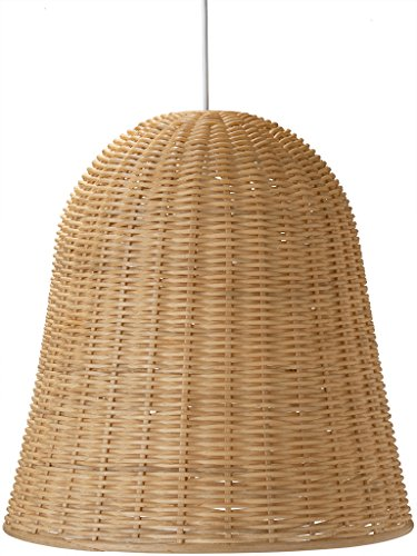 (Kouboo, Handwoven Wicker Bell Pendant Lamp, Dia 18 x 18 inch, Natural Brown)