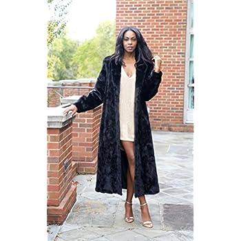 115f9226299f6 Amazon.com  Full Length Mink Fur Coat with Shawl Collar and Bracelet ...