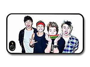 5 Seconds Of Summer Funny Faces Watermelon Boyband case for iPhone 4 4S A5609 by supermalls