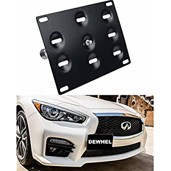 For 14-16 Infiniti Q50 Front Tow Hook License Plate Relocator Bracket No PDC