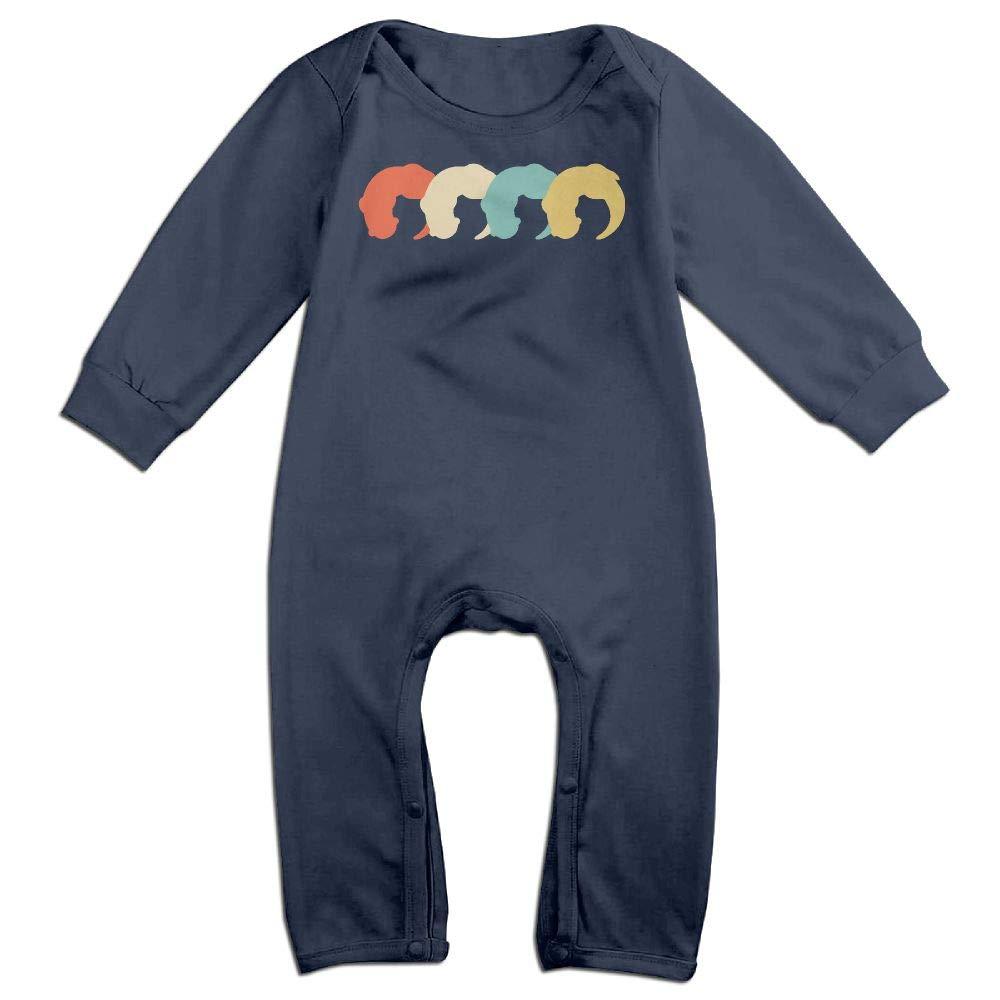 Mri-le1 Baby Girls Coverall Vintage Sea Otter-2 Kid Pajamas