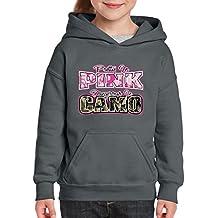 Artix Pretty in Pink Dangerous in Camo Hoodie For Girls - Boys Youth Kids