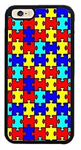 Autism Puzzle Pieces TPU Rubber Silicone Phone Case Back Cover Apple iPhone 6 (4.7 inches)