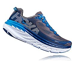 Hoka One One Mens Bondi 5 Charcoal Graytrue Blue Running Shoe - 9.5 M