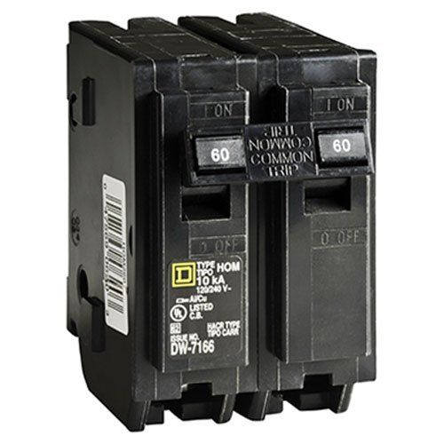 SQUARE D BY SCHNEIDER ELECTRIC HOM260C DP Breaker, 60 Amp