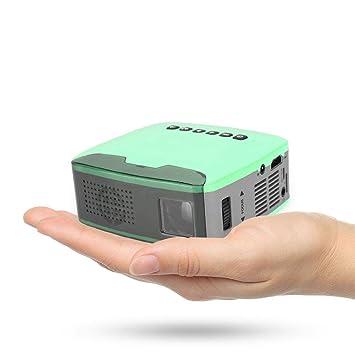 Mugast Mini proyector HD, portátil 1080P 13ANSI lúmenes LED ...
