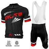 Arltb Cycling Jersey and Bib Shorts Set Bicycle Bike Short Sleeve Jersey ...