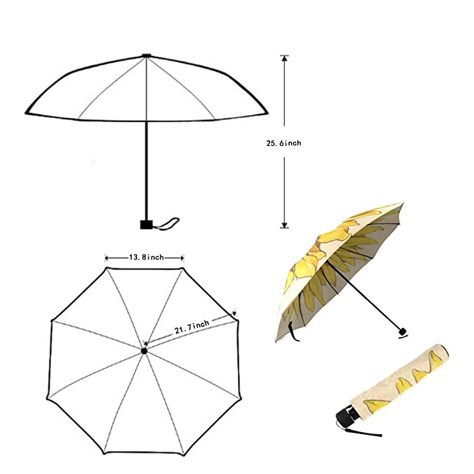 Amazon.com: Foldable Rain Umbrella Wind Windproof Floding Travel Umbrella add Your Own Custom Name Personalized Message or Image: Sports & Outdoors