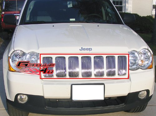 APS Compatible with 2009-2010 Jeep Grand Cherokee Vertical Billet Grille S18-V40666J