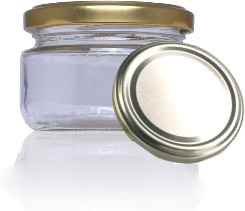 Tarro De Cristal Conservas Chuches Botes Pequeños Con Tapa Incluida Recipientes Para Alimentos Vasos Para Miel Gominolas Amazon Es Hogar
