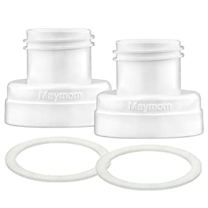 Maymom Conversion Kit Compatible with Medela Sonata, Freestyle Flex Pump to Use with Phillips Avent Classic Bottles Avent Natural PP Bottle Spectra Wide-mouth Bottle Thread Changer Avent Converter Kit