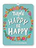 img - for Orange Circle Studio 2018 Poster Wall Calendar, Think Happy Be Happy book / textbook / text book