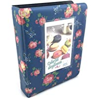 Fuji Instax Floral Photo Album for Fujifilm Instax Mini 9 mini 8 mini 25 mini 90 Polaroid Cameras ( Blue )