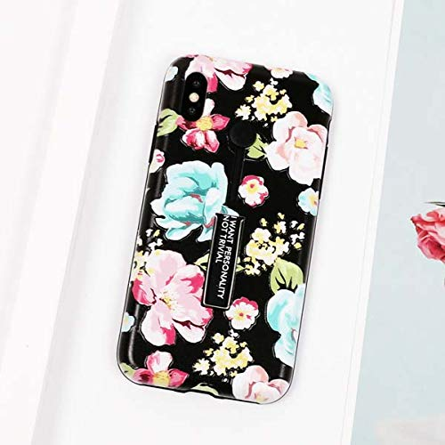 1 piece LOVECOM Phone Case For iPhone 6 6S 7 8 Plus Flower Soft TPU Edge & Hard Backplane Full Body Phone Cover Coque Kickstand Gifts