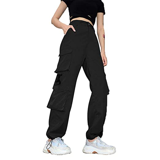 Pantalones de hip hop para mujer. Pantalones de carga para mujer ...