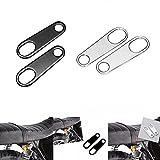1 Pair Motorcycle Rear Turn Signal Light Brackets Holder Shock For Harley Honda Kawasaki Suzuki Yamaha Racer (Black)