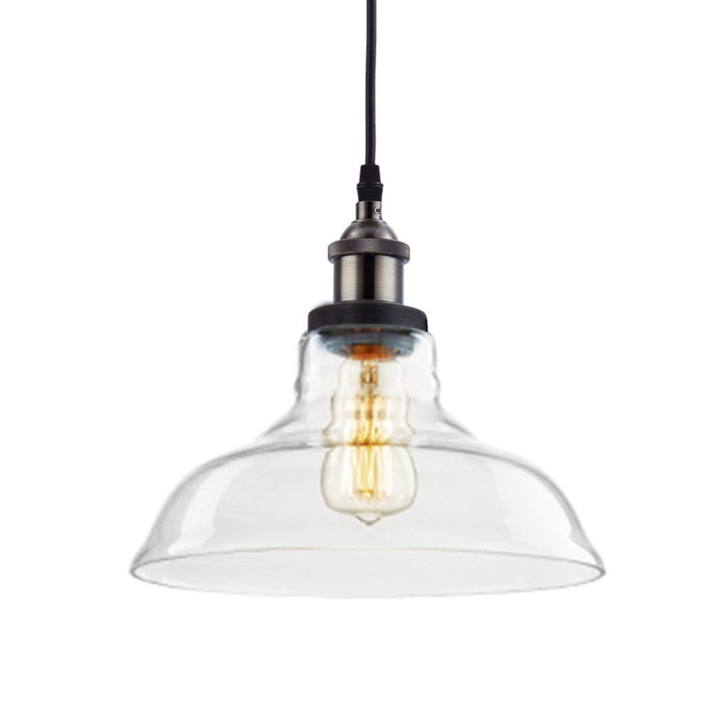 CLAXY Ecopower Industrial Edison Vintage Style 1-Light Pendant Glass Hanging Light by CLAXY (Image #3)