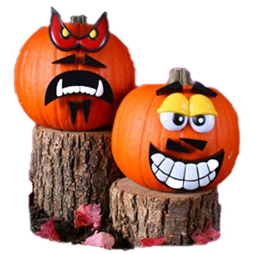 [Crazy Faces Pumpkin Kit (Red, Yellow)] (Mr Potato Head Costumes For Adults)