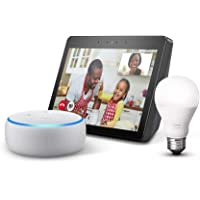 $159 Get Echo Show (2nd Gen) Charcoal Bundle with free Echo Dot Sandstone and Philips Hue Bulb