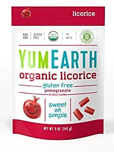 YumEarth Gluten Free Licorice, Pomegranate, 5 Ounce ( Packaging May Vary )(Pack of 12)
