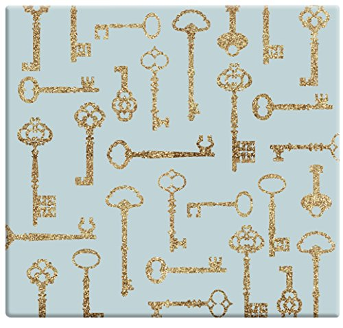 MCS MBI 13.5x12.5 Inch Golden Glitter Keys Scrapbook Album with 12x12 Inch Pages (860118)