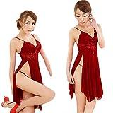 Sleepwear ,BeautyVan Women Underwear Sleepwear Lace Dress G-string Nightwear (Red)