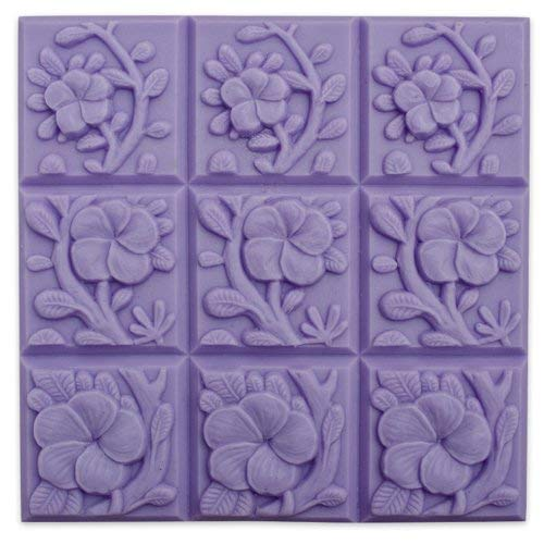 Milky Way Tropical Vines Soap Mold Tray - Melt and Pour - Cold Process - Clear PVC - Not Silicone - MW 04