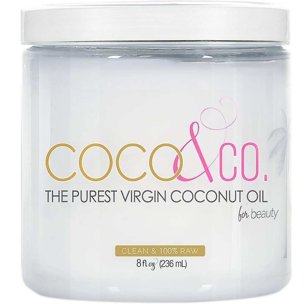 Coconut Oil for Hair & Skin By COCO&CO. Beauty Grade 100% RAW (8oz) by COCO&CO