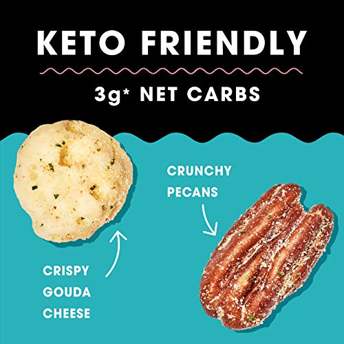 Hilo Life Keto Friendly Low Carb Snack Mix, Crispy Gouda Cheese & Pecans, 1.48 Oz, Really Ranchy, 8.88 oz