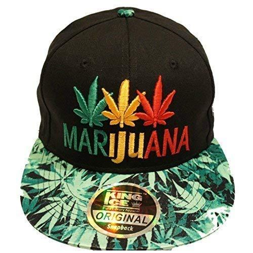 de de diseño con Ice con Three de plana King Marijuana Coloured marihuana plantas unisex visera Gorra Tgq8W
