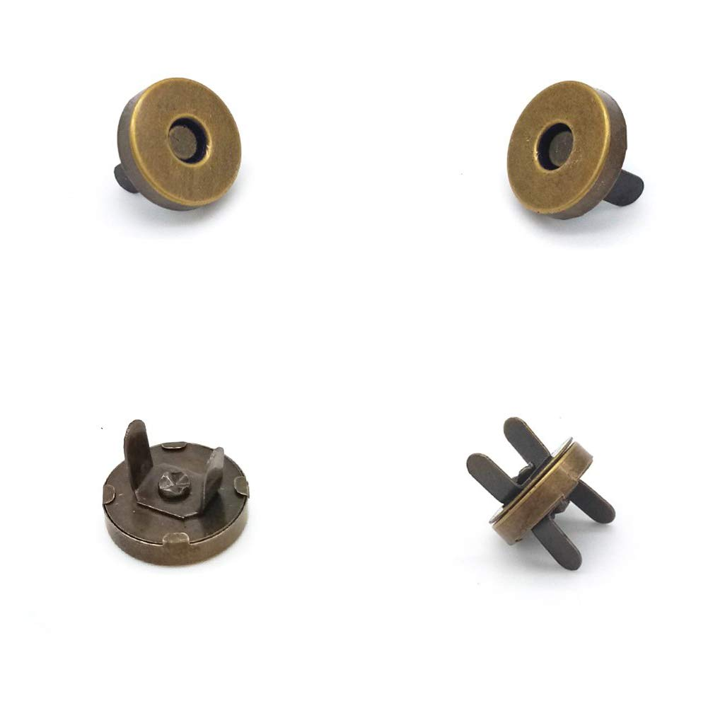 Vestiti Accessori da Cucito 14 mm Unique WElinks 100 Set di Bottoni magnetici da Cucito Fai da Te Gold Borse Chiusura a Scatto per Borse