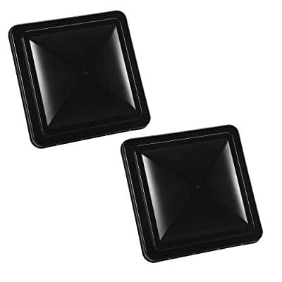 RV Roof Vent Cover Universal Black Replacement Vent Lid 14 Inch RV Vent Coverfor Motorhome Trailer Camper 2 Packs: Automotive