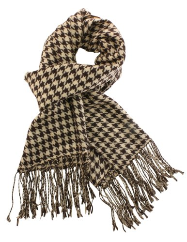 Dahlia Women's Wool Scarfs Wraps Shawls Houndstooth Or Plaid Pattern