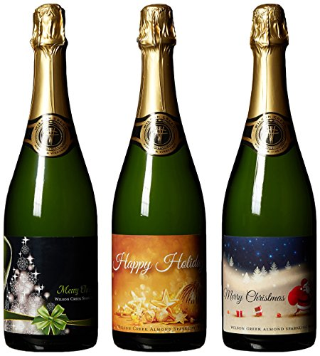 Wilson Creek Almond Sparkling Wine Christmas Day Mixed Pack, 3 x 750 mL (Wilson Creek Almond)